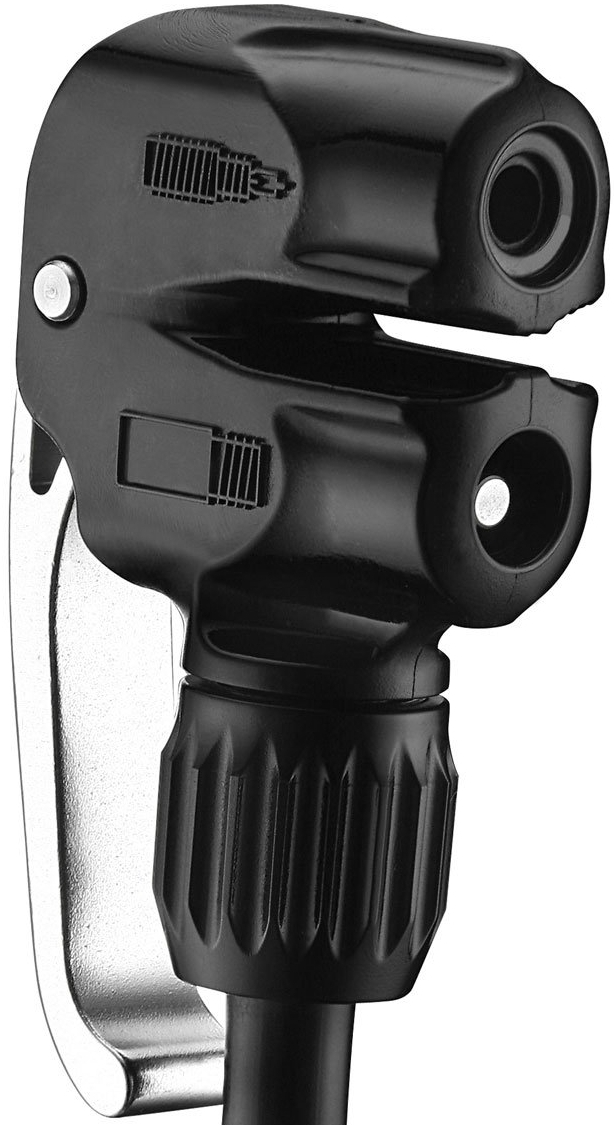 Lezyne Dual Valve pump head - black uni