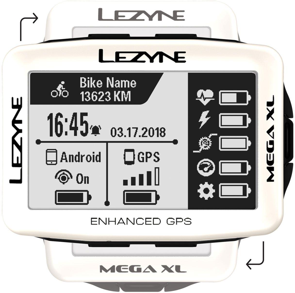 Lezyne Mega XL GPS pearl white uni