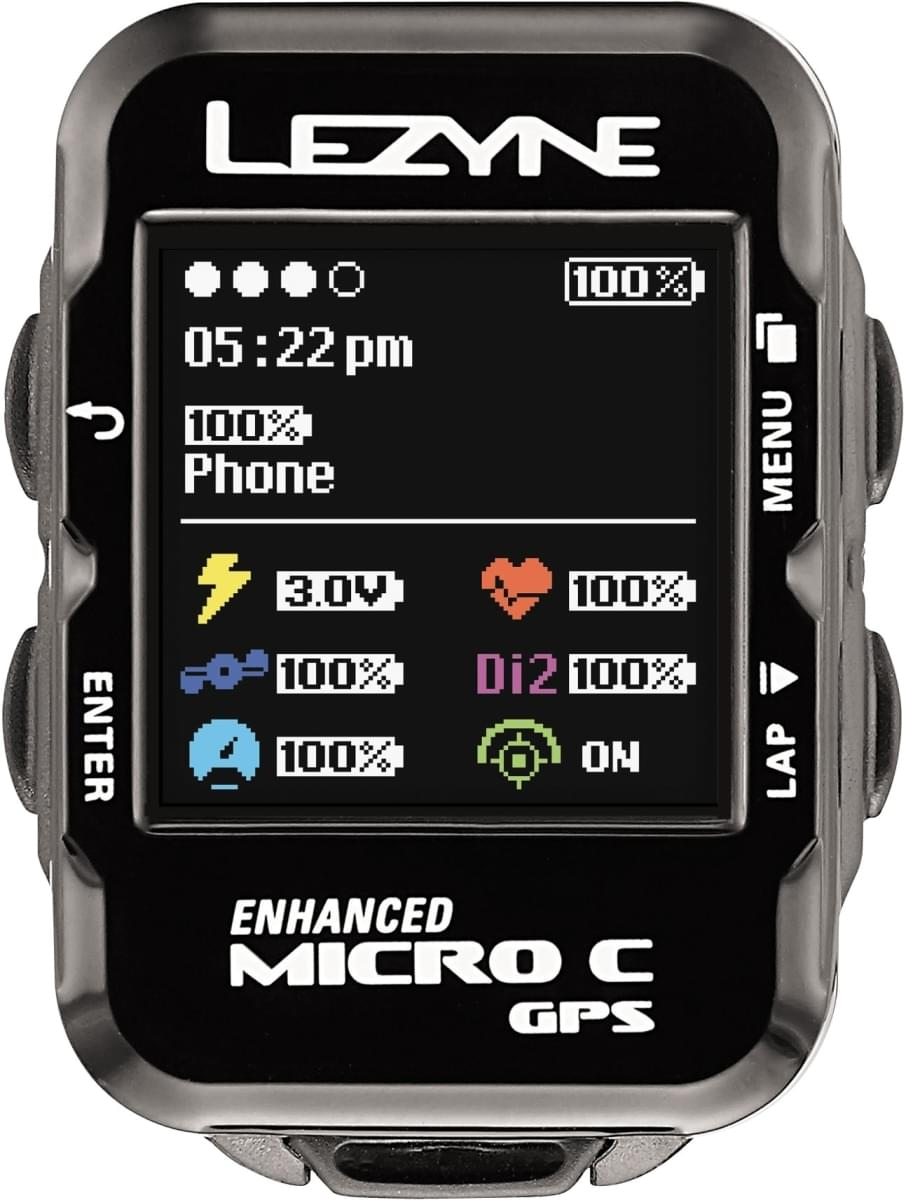 Lezyne Micro Color Gps Hrsc Loaded - black uni