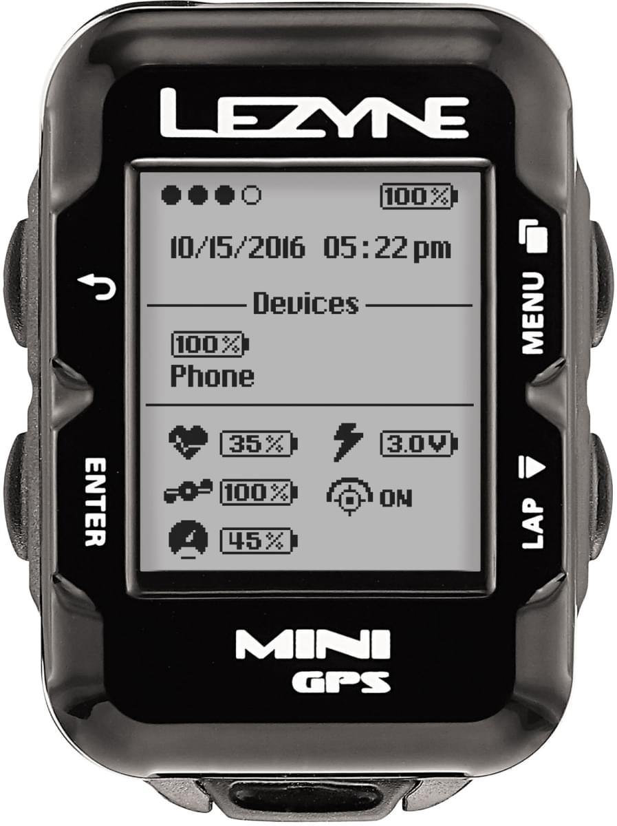 Lezyne Mini Gps - black uni