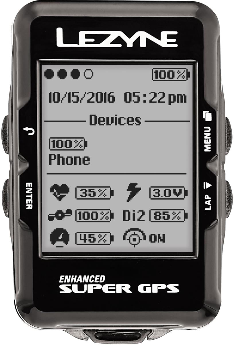 Lezyne Super Gps - black uni