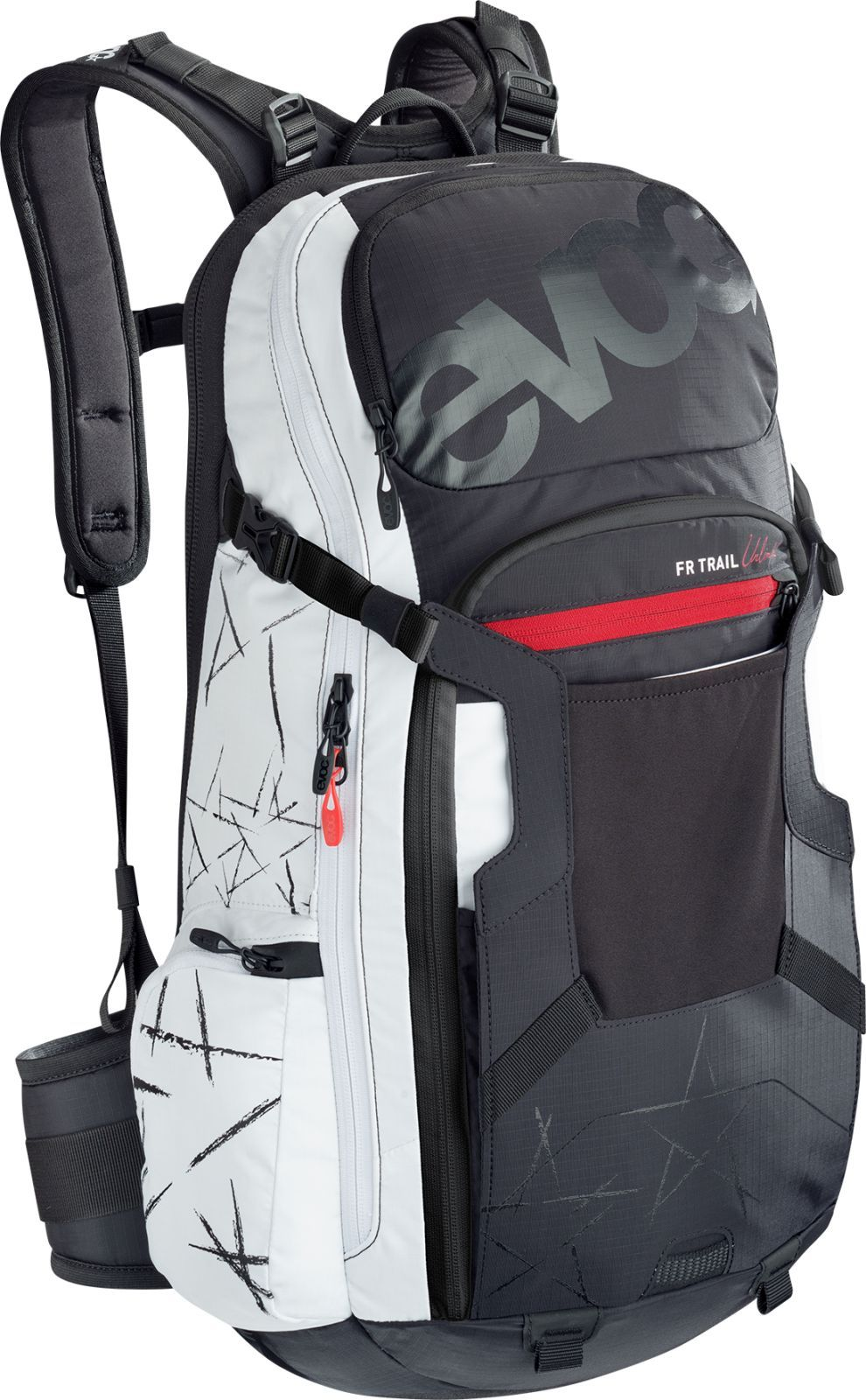 Evoc FR Trail Unlimited 20L - black/white M/L