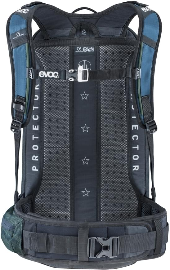279be3df41 ... Cyklistický batoh s chráničem páteře Evoc FR Enduro Team 16L - copen  blue-olive- ...
