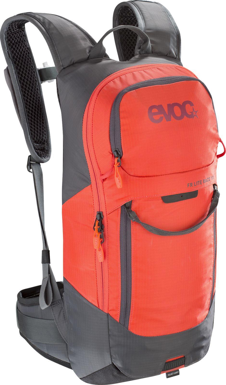 383e18bf51 Cyklistický batoh s chráničem páteře Evoc FR Lite Race 10L - carbon grey  orange