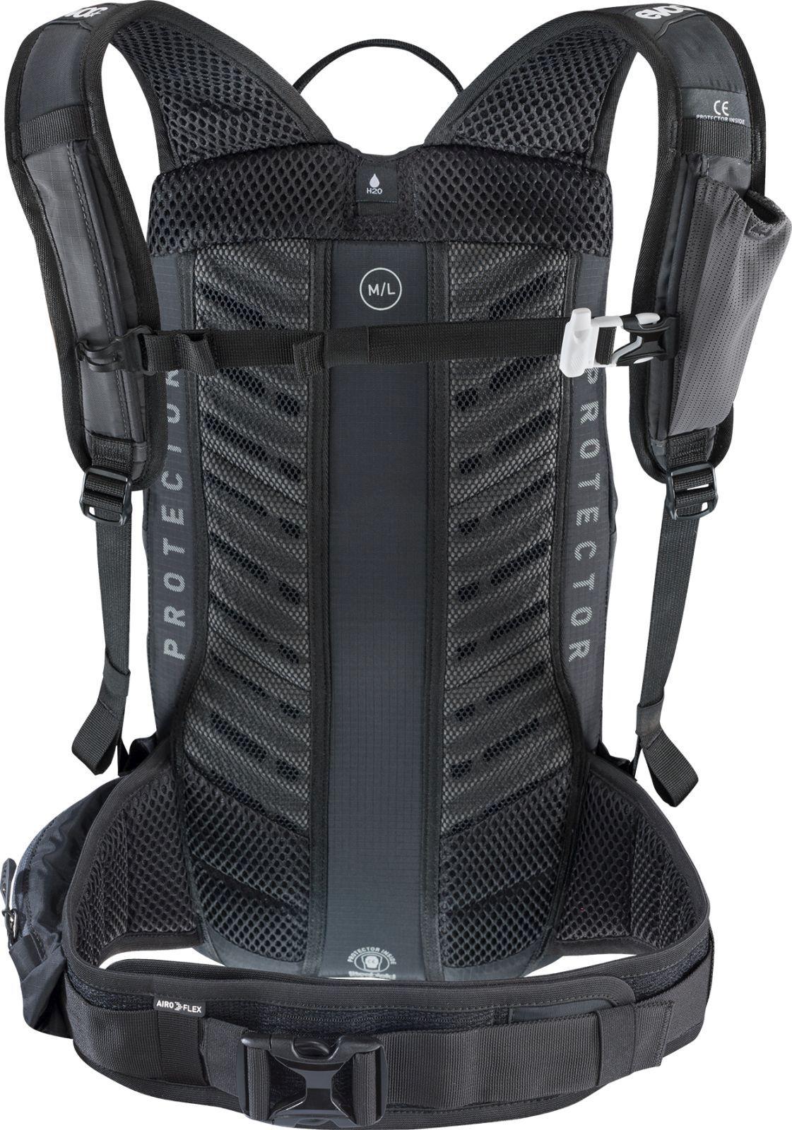 5a1a1e99e8 Cyklistický batoh s chráničem páteře Evoc FR Lite Race 10L - carbon grey  orange ...