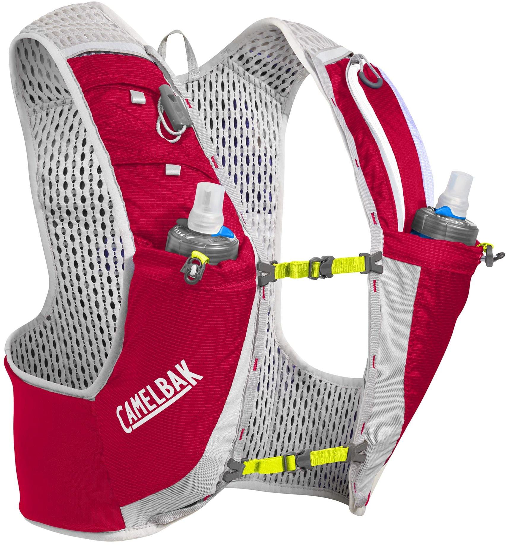 Camelbak Ultra PRO Vest - Crimson Red/Lime Punch L