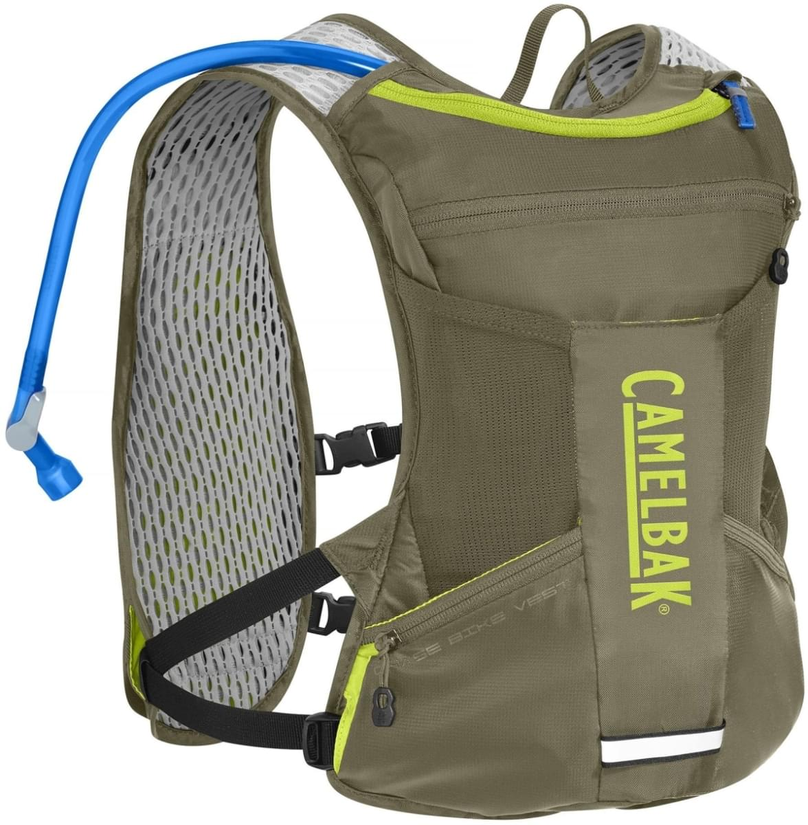 Camelbak Chase Bike Vest - Burnt Olive/Lime Punch uni
