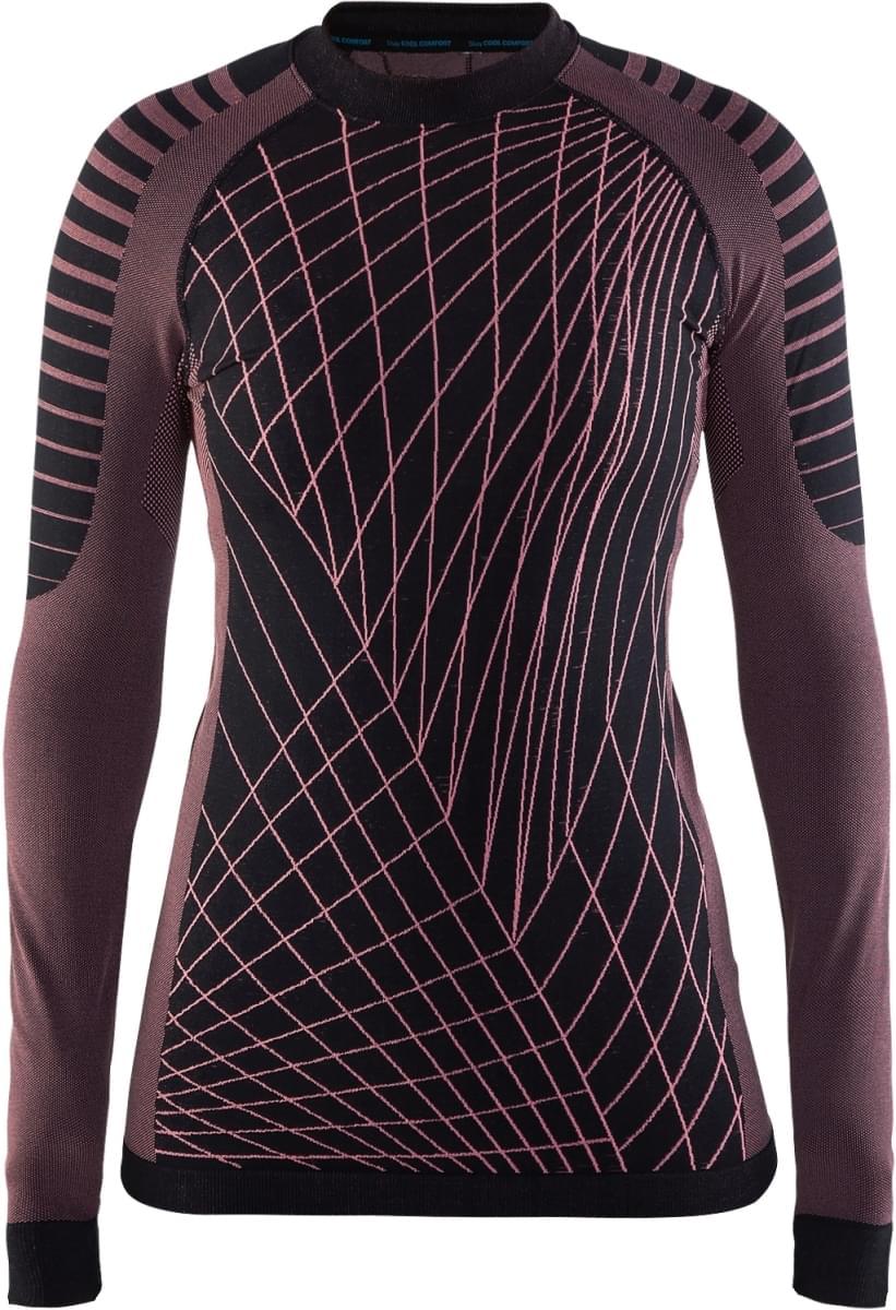 7298667698f Dámské funkční triko s dlouhým rukávem Craft Active Intensity - černá  fialová