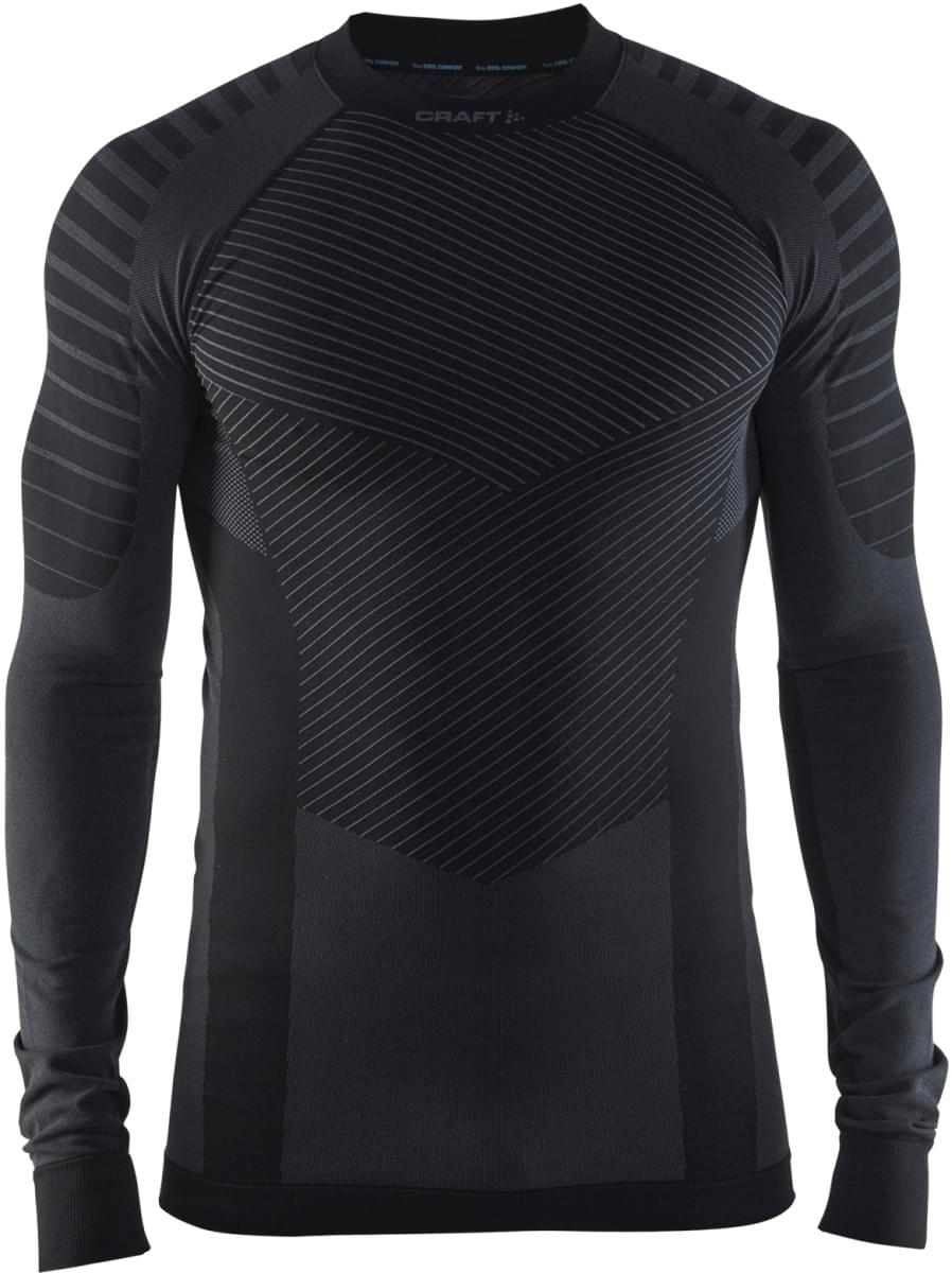 Pánské funkční triko s dlouhým rukávem Craft Active Intensity - černá šedá 42ffc8a0ee