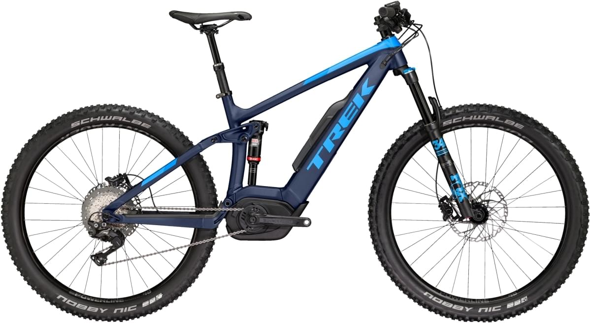 Trek Powerfly FS 8+ LT Matte Deep Dark Blue/Gloss W Blue 19.5