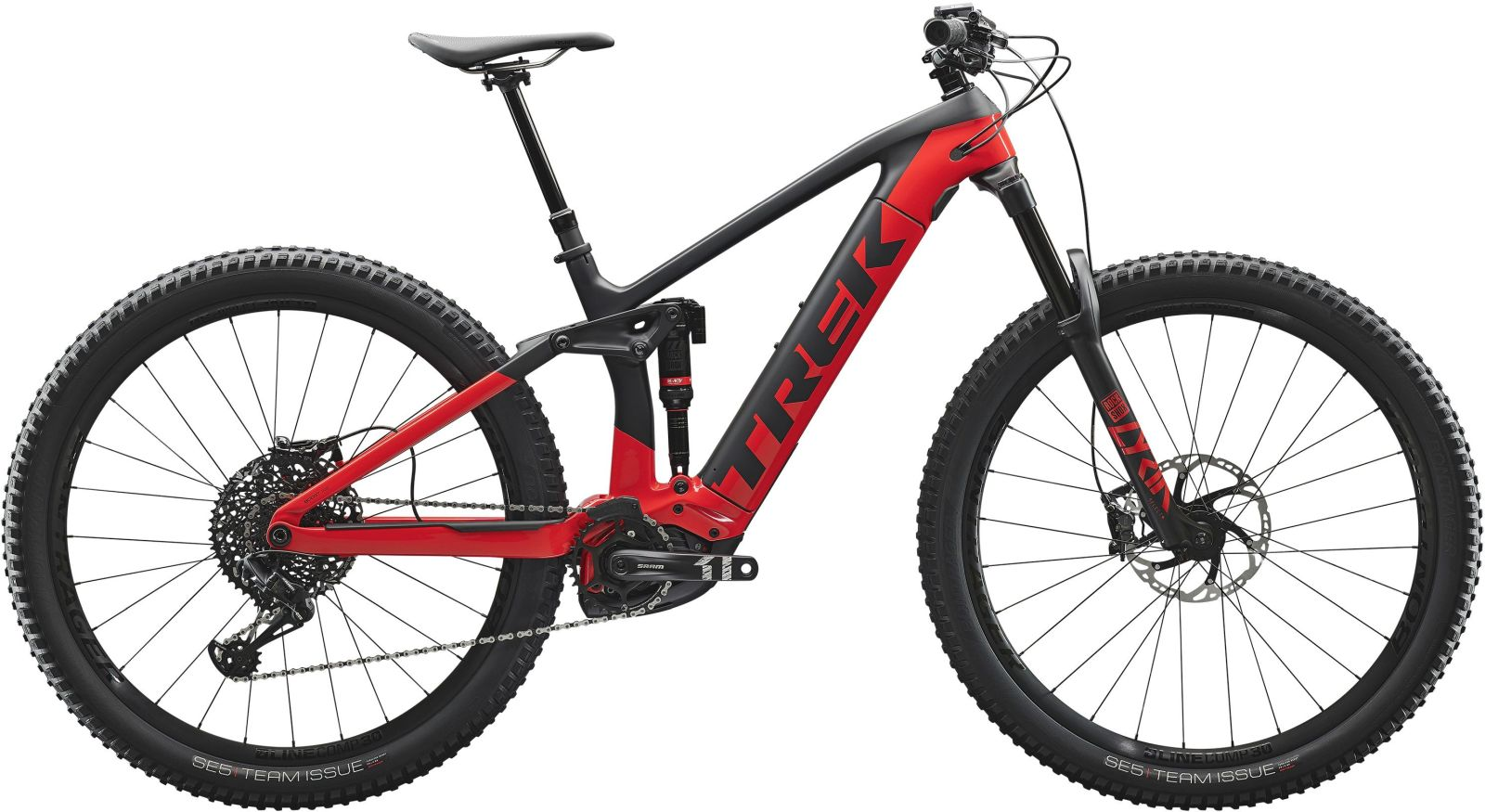Trek Rail 9.8 - matte trek black/gloss viper red M
