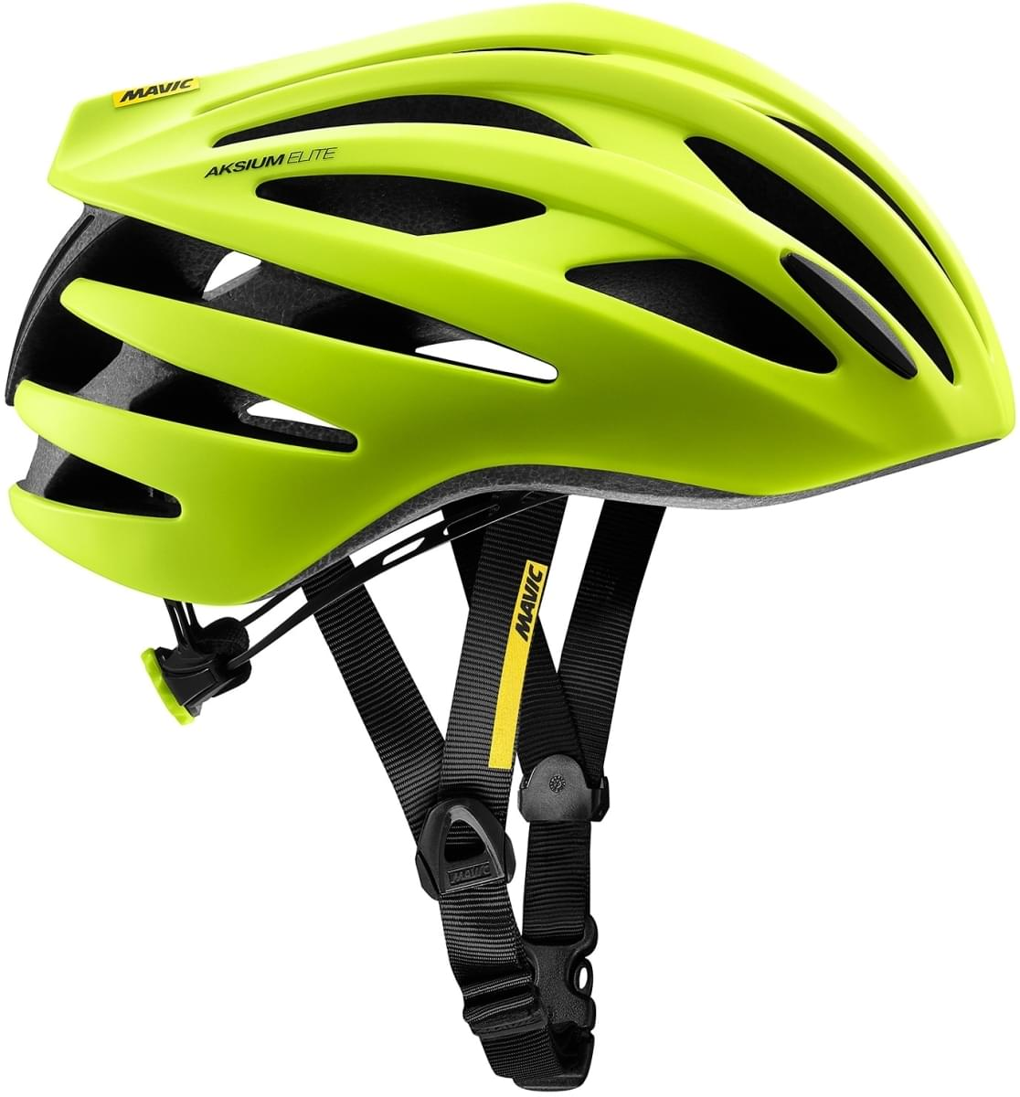 Mavic Aksium Elite Helmet - safety yellow/black L
