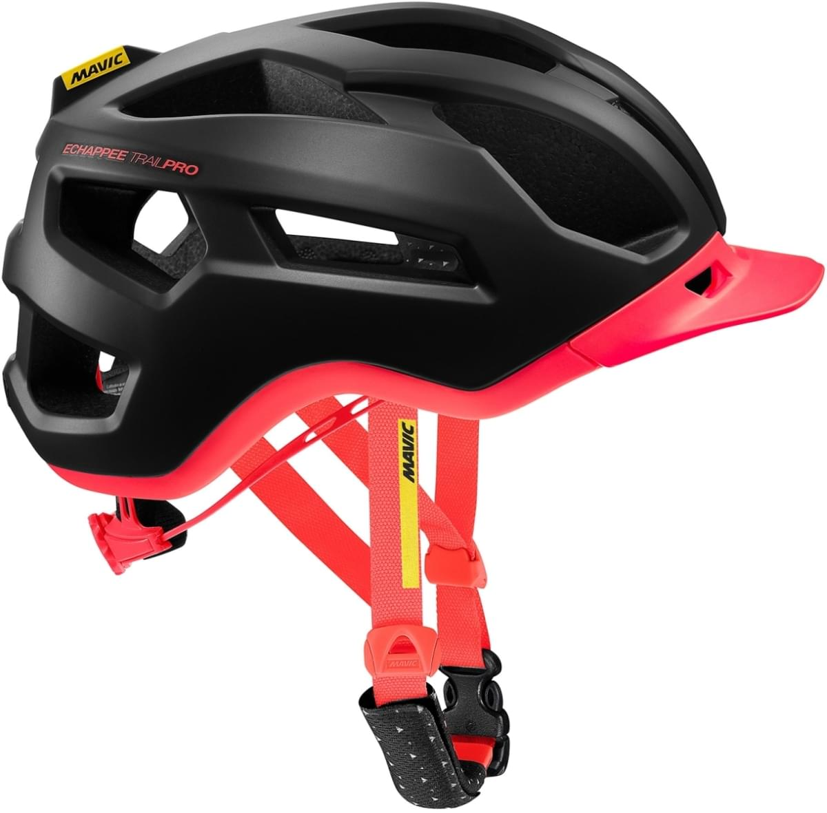 Mavic Echappée Trail Pro Helmet W - pirate black/fiery coral S