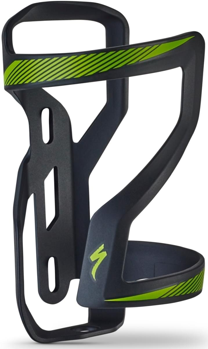 Specialized Zee Cage II Right DT - black/monster green uni