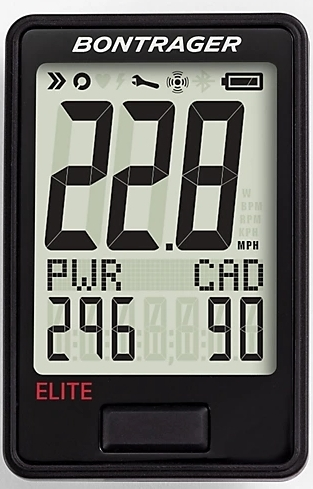 Bontrager RIDEtime Elite Cycling Computer - black uni