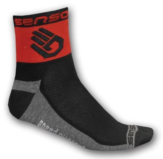 Cyklistické ponožky Sensor Race Lite Ruka - červená 43-46