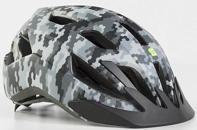 Bontrager Solstice MIPS Youth Bike Helmet - grey camo 48-55