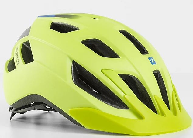 Bontrager Solstice MIPS Youth Bike Helmet - radioactive yellow/waterloo blue 48-55