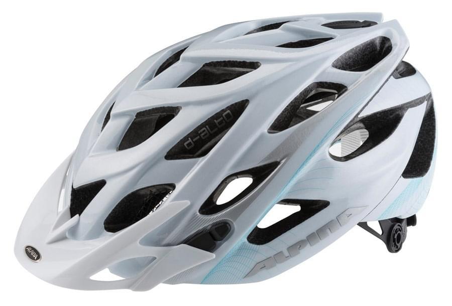 Dámská cyklistická přilba Alpina D-Alto - white/blue/silver 52-57