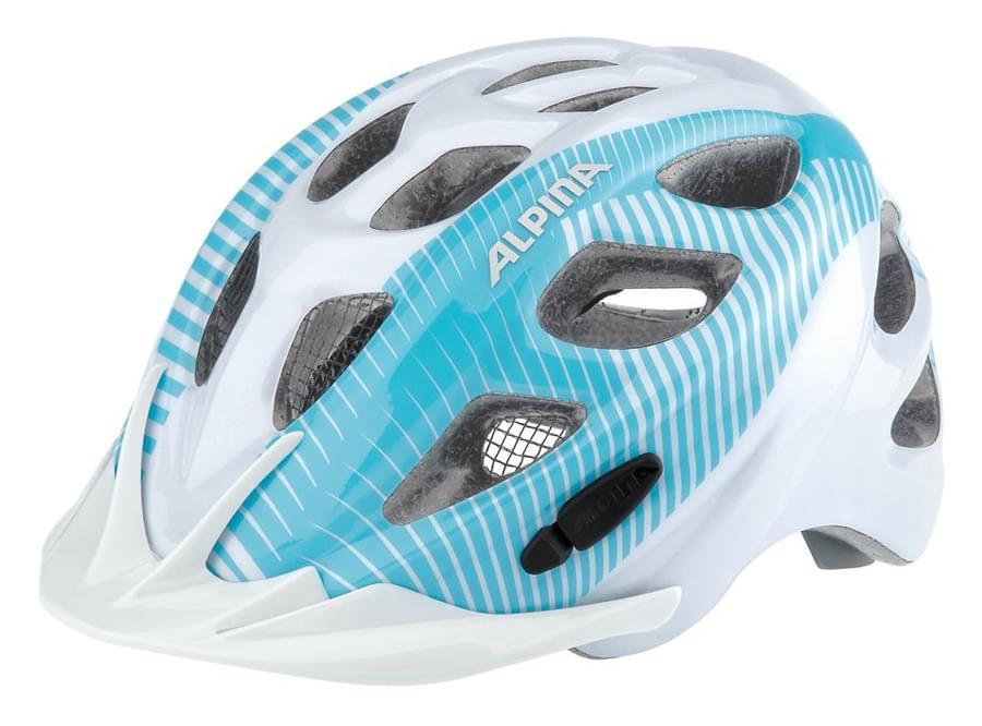 Dětská přilba na kolo Alpina Rocky - white/lightblue 47-52