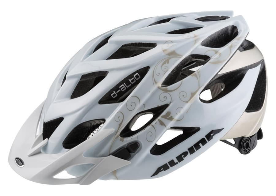Dámská cyklistická přilba Alpina D-Alto - white/prosecco 52-57