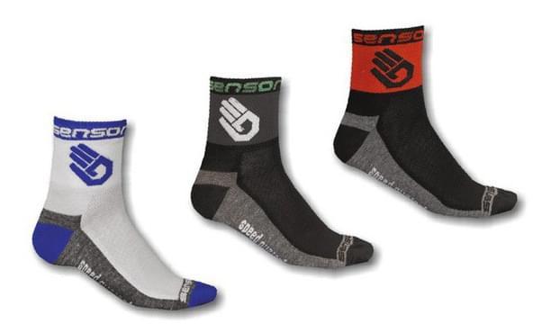 Cyklistické ponožky Sensor trojbalení Race Ruka 43-46