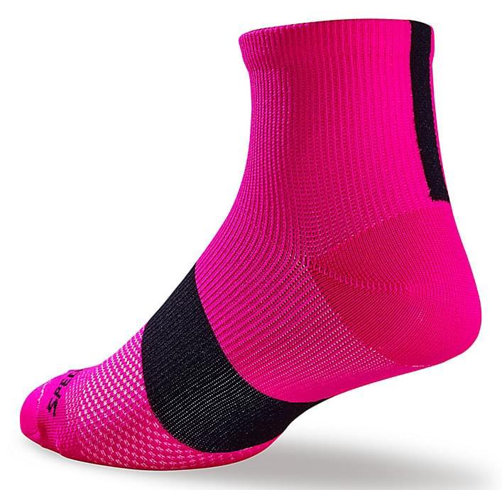 Dámské sportovní ponožky Specialized SL MID - neon pink/black 40-42