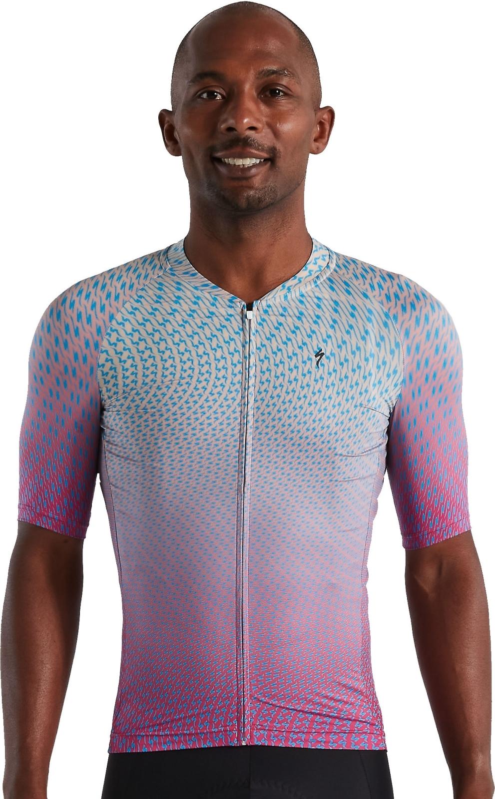 Specialized SL Bicycledelics Jersey SS Men - ice papaya/pro blue XL