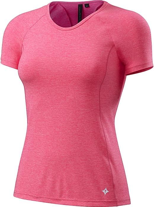 Specialized Shasta Short Sleeve Top Wmn - neon pink heather S