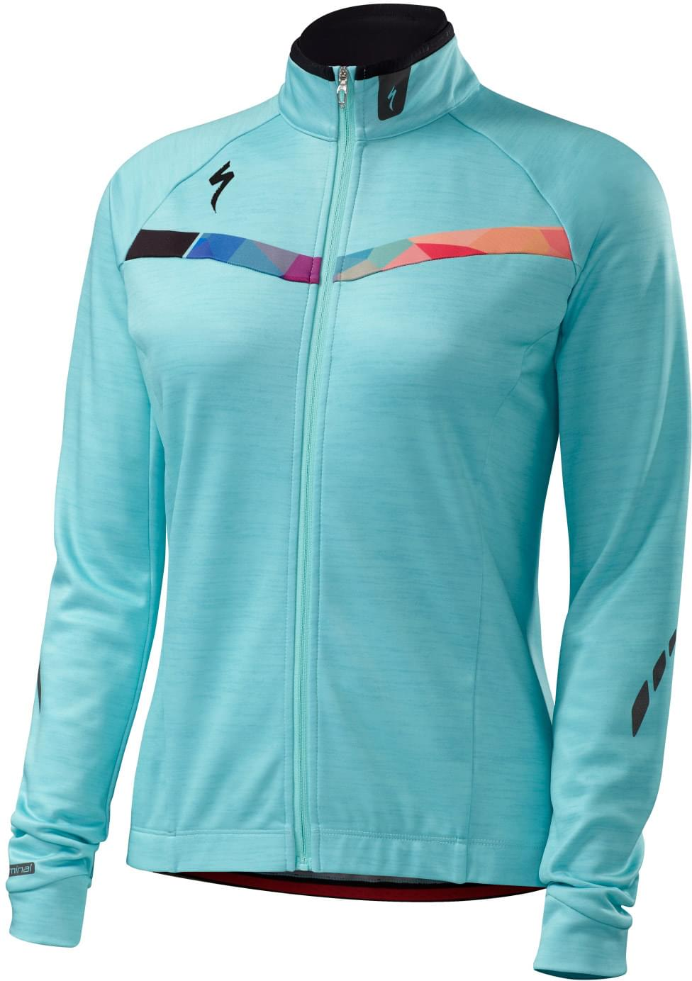 Specialized Therminal Long Sleeve Jersey Wmn - turquoise geo XS