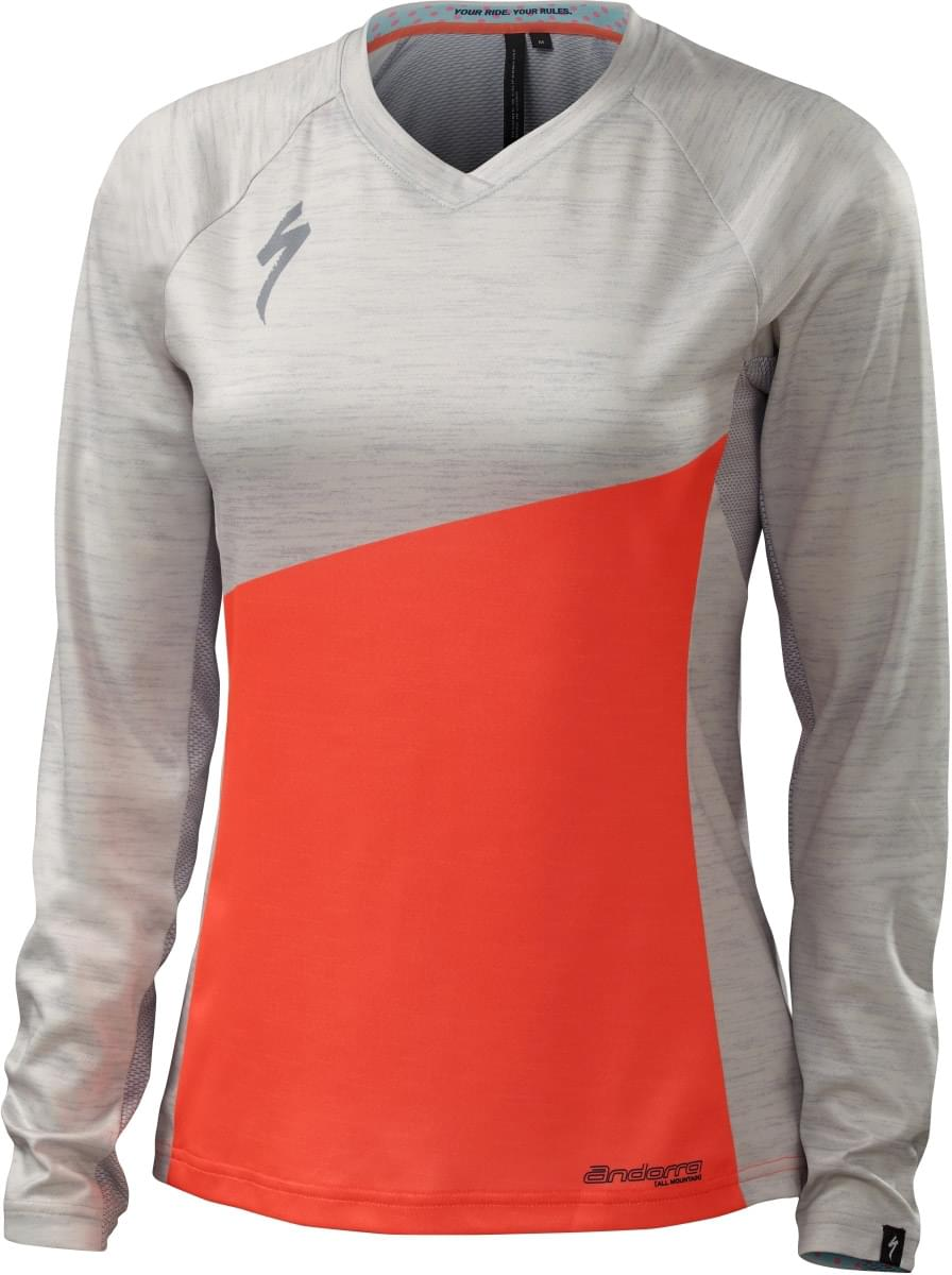 Specialized Andorra Comp Long Sleeve Wmn - neon coral S