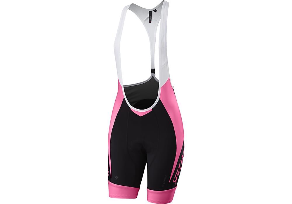 2b88650f9d5 Dámské cyklistické kalhoty Specialized Wmn SL Pro Bib Short - Pink Black L