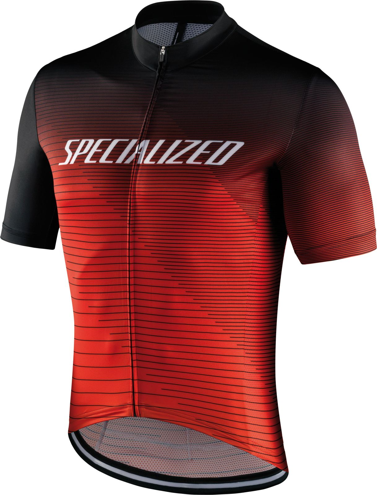 Specialized Rbx Comp Logo Team Jersey SS - black/rocket red/red L