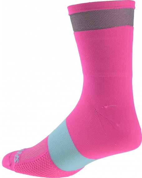 Specialized Reflect Tall Sock - neon pink XL