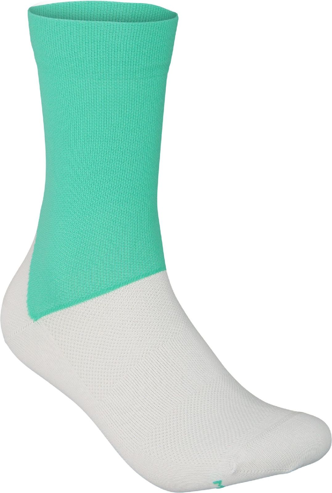 Levně POC Essential Road Sock - Fluorite Green/Hydrogen White 43-45