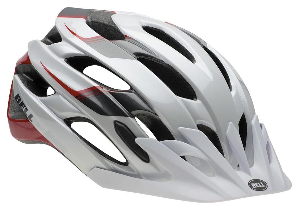 Cyklistická přilba Bell Event XC - white/black/red speed fade S