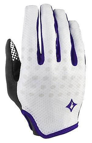 Dámské cyklistické rukavice Specialized BG Grail LF - white/indigo XL
