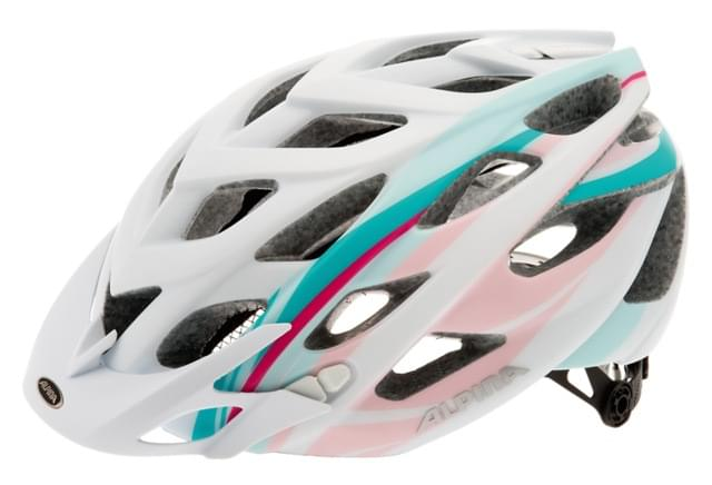Cyklistická přilba Alpina D-Alto L.E. - white/rose/lightblue 52-57
