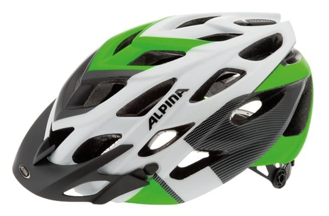 Cyklistická přilba Alpina D-Alto L.E. - white/black/green 52-57