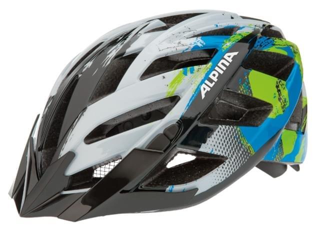 Cyklistická přilba Alpina Panoma - white/cyan/green 52-57