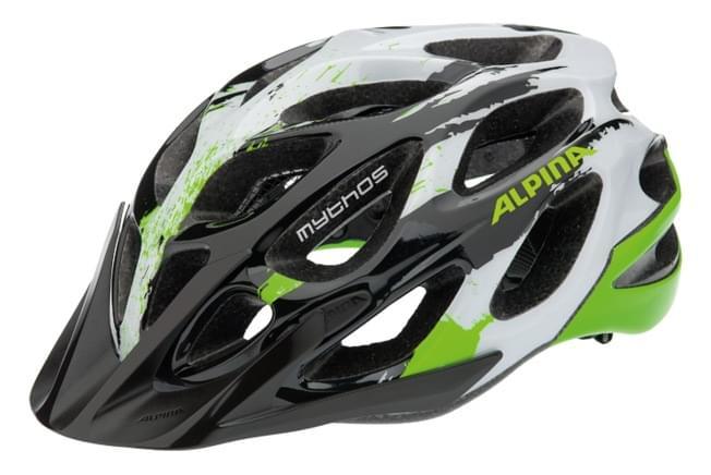 Dámská cyklistická helma Alpina Mythos 2.0 - black/white/green 52-57