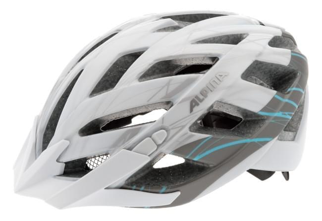 Cyklistická přilba Alpina Panoma L.E. - white/silver/blue 52-57