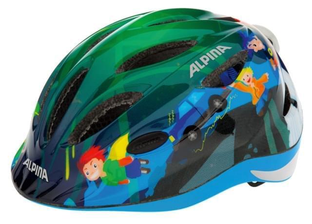 Dětská přilba na kolo Alpina Gamma 2.0 Flash - superhero 46-51