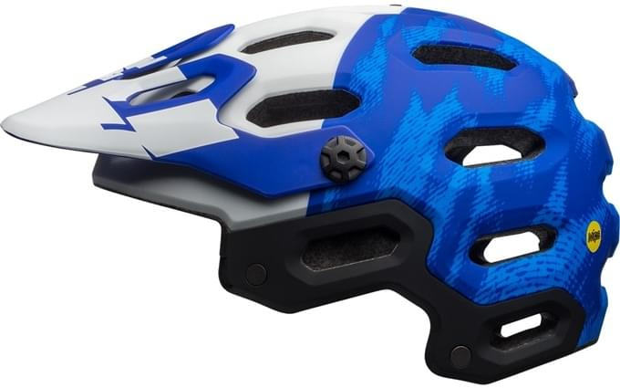 Bell Super 3 MIPS - mat force blue/white M