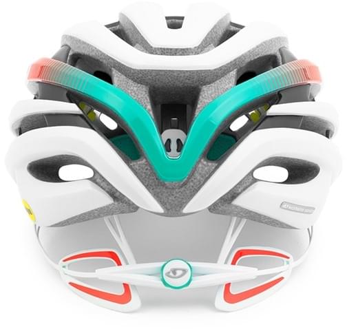 Dámská cyklistická přilba Giro Ember MIPS Mat White Turq Vermilion ... aaa7c2cfc51