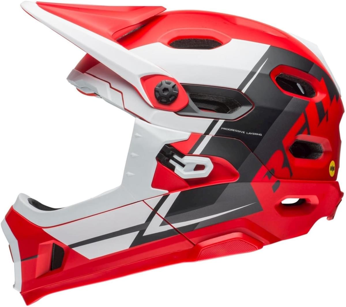 Bell Super Dh MIPS Mat Red/White/Black M