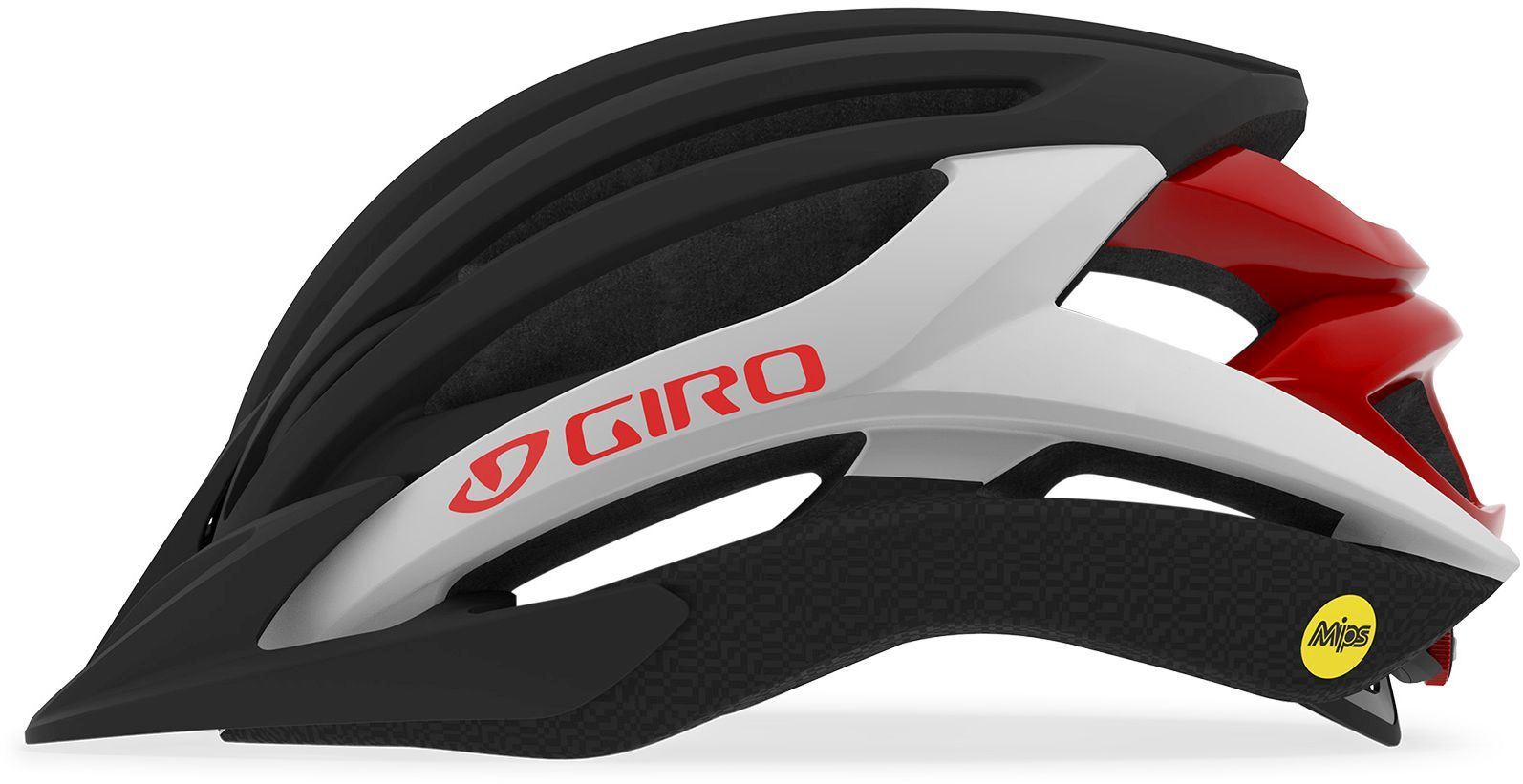 Giro Artex MIPS Mat Black/White/Red M-(55-59)