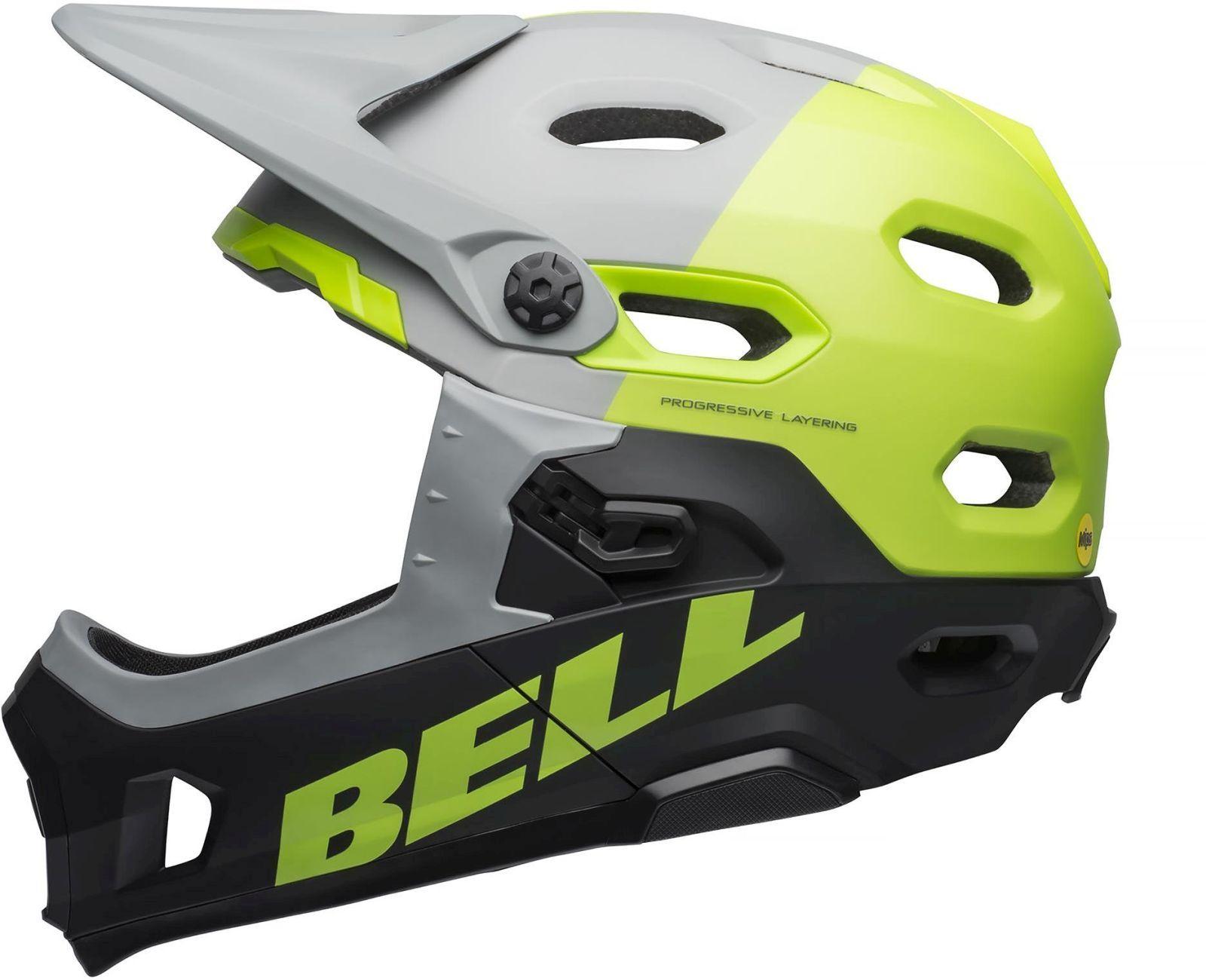 Bell Super DH MIPS - mat/glos gray/green/black M-(55-59)