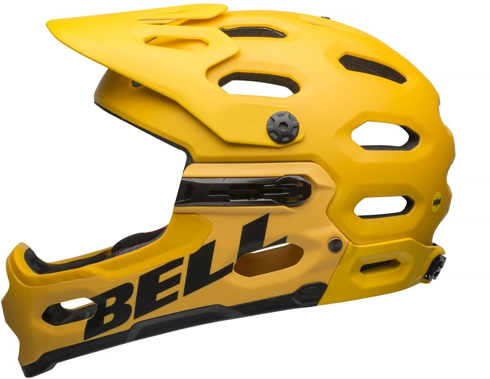Bell Super 3R MIPS - mat yellow/coal L-(58-62)