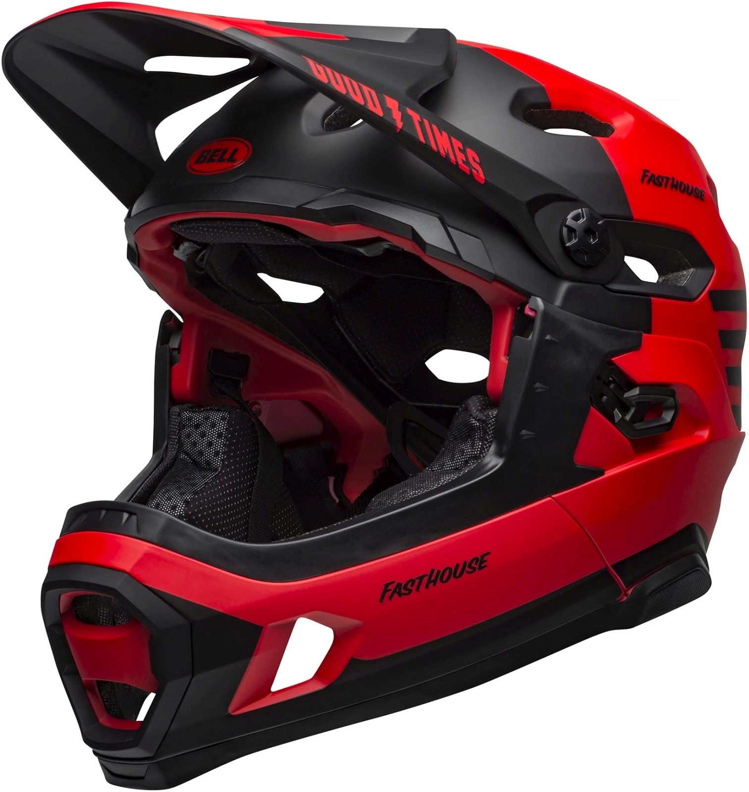 Bell Super DH MIPS Mat/Glos Red/Black Fasthouse M-(55-59)